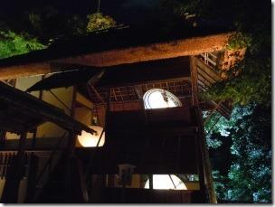 高台寺のライトアップ時雨亭2階