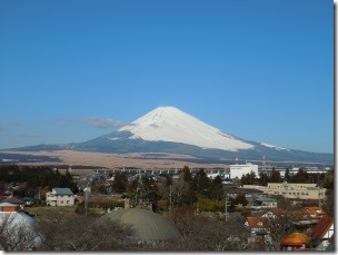 御殿場時之栖から撮影した富士山
