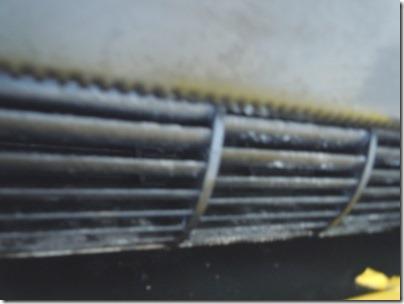 掃除する前のエアコン内部シロッコファン