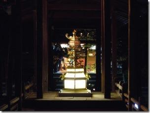 高台寺のライトアップ灯篭