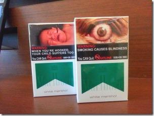 気持ち悪いシンガポールのタバコパッケージ